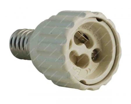 Átalakító adapter E14-ről GU10-re