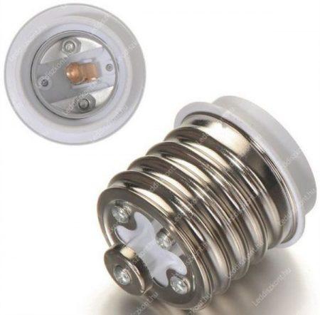 Foglalat átalakító adapter E40-ről E27-re. Ipari lámpákhoz