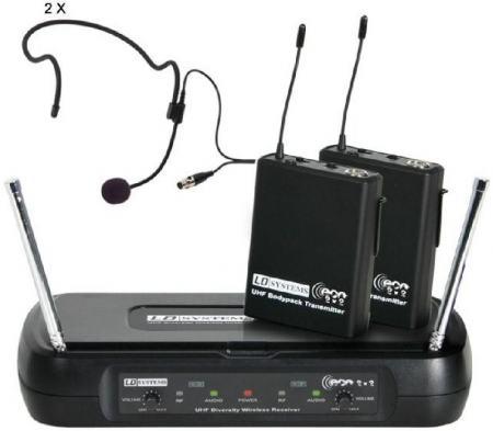 LD Systems WS ECO 2 fejpántos mikrofon