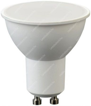 5W Led GU10 spot égő, tejes búra, közép fehér