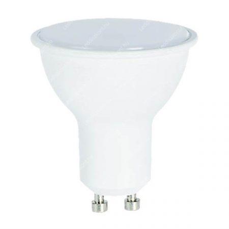 7W LED GU10 spot égő tejes búra meleg fehér