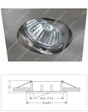 Led beépíthető lámpatest, alumínium, billenős, kocka