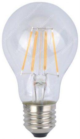 6W Led filament átlátszó körte égő közép fehér