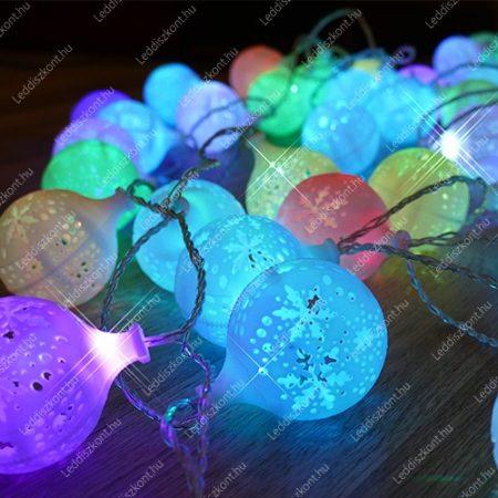 LED karácsonyi hólabda kül-és beltéri /IP44/ füzér