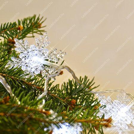 LED karácsonyi hópihe kül-és beltéri /IP44/ füzér