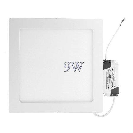 Led panel világítás driverrel, kocka, 9W, közép fehér