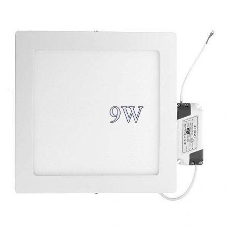 Led panel világítás driverrel, kocka, 9W, hideg fehér