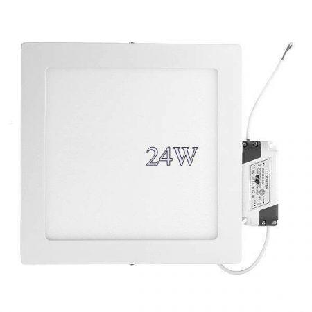 Led panel világítás driverrel, kocka alakú 24W, meleg fehér