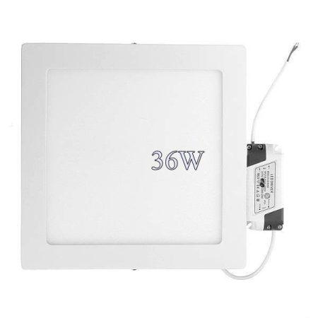 Led panel világítás driverrel, kocka alakú 36W, meleg fehér