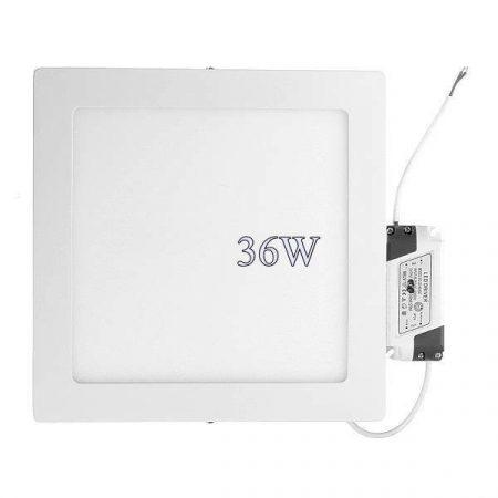 Led panel világítás driverrel, kocka alakú 36W, közép fehér