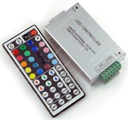 RGB led szalag vezérlő, 144W, infrás, 44 gombos