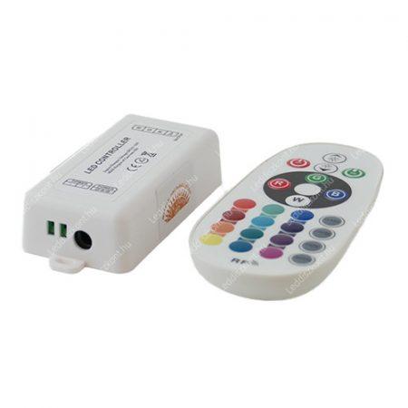 RGB led szalag vezérlő, 144W, rádiós, 24 gombos, egyedi kódos