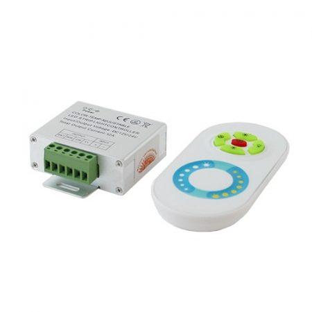 RGB led szalag vezérlő, 216W, rádiós, érintős, egyedi kódos