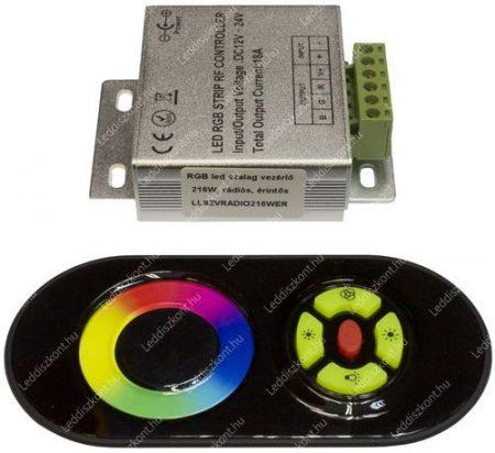 RGB led szalag vezérlő, 216W, rádiós, érintős