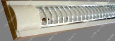 Led fénycső armatúra T8, rácsos, falon kívüli, 30x120 cm