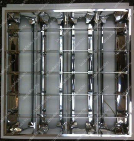 Led fénycső armatúra T8, 60x60 cm, beépíthető. 4 db led fénycsőhöz