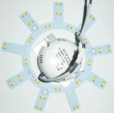 12W  Led UFO lámpa belső rész, meleg fehér